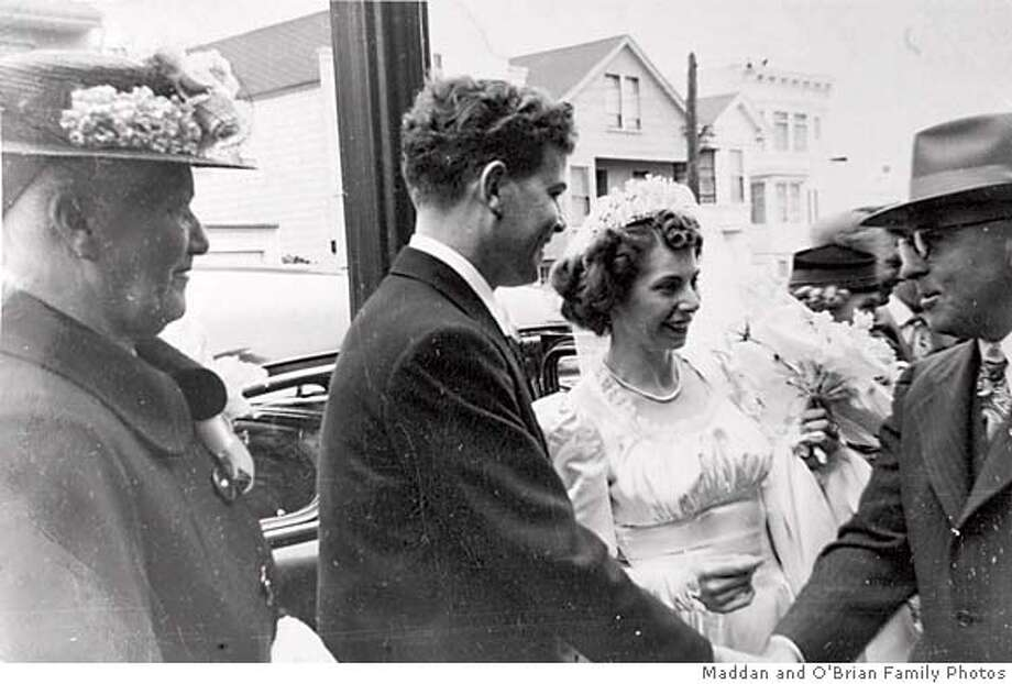 fa69cc33a17 Tom and Barbara O Brien outside Saint John s Church on their wedding  day