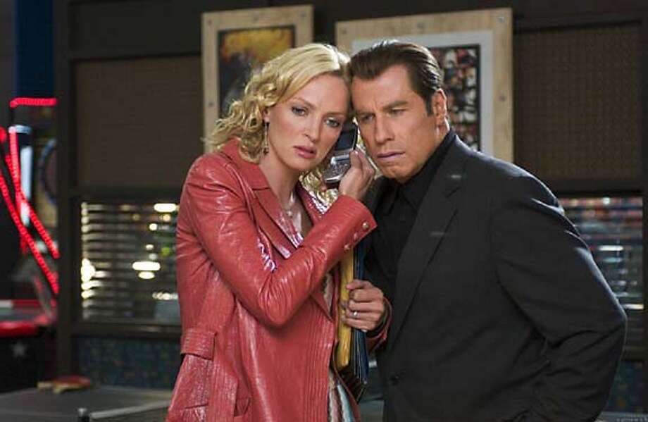 "Uma Thurman and John Travolta in ""Be Cool"" 2005 Photo: MGM"