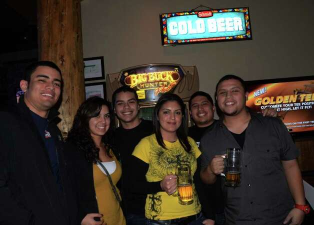 Houston natives Eduardo Briseno (from left), Sarah Olivarez, Steve Garay (cq), Belinda Canto, and Nick and Chris Briseno check out Twin Peaks on January 21, 2012. Robin Johnson