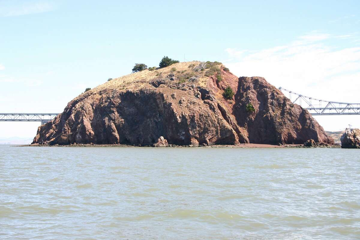 Red Rock, a steep, barren island 200 yards south of the Richmond-San Rafael Bridge.