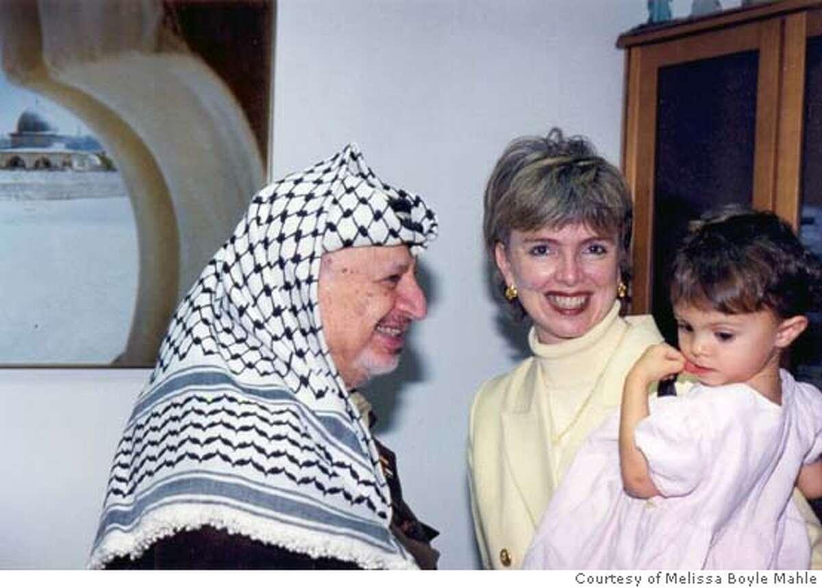 Photo of Hana and Arafat.