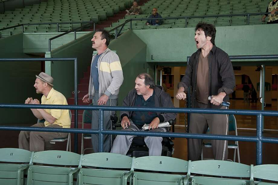LUCK: Ian Hart, Ritchie Coster, Kevin Dunn, Jason Gedrick. Photo: Gusmano Cesaretti, HBO