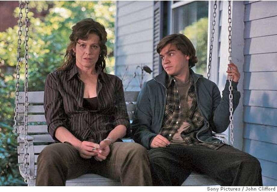 IMAGINARY25 L: Sigoourney Weaver as Sandy Travis. R: Emile Hirsch as Tim Travis. John Clifford/Sony Pictures