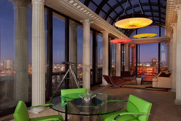 The sunroom seen at night. Photo: Jeff Warrin, Redgate Photography