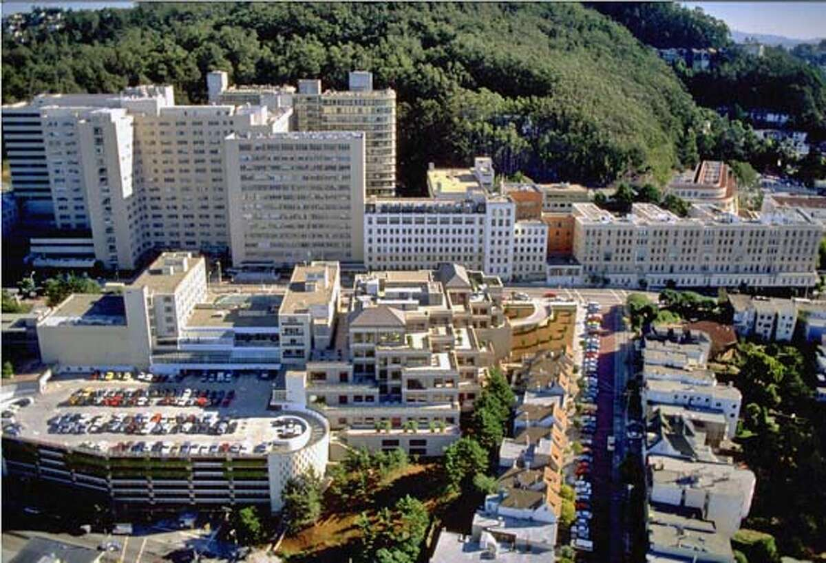 UCSF's long-term plans for its vast Parnassus Heights complex call for rebuilding the hospital there at a cost of $500 million. Photo courtesy of UCSF