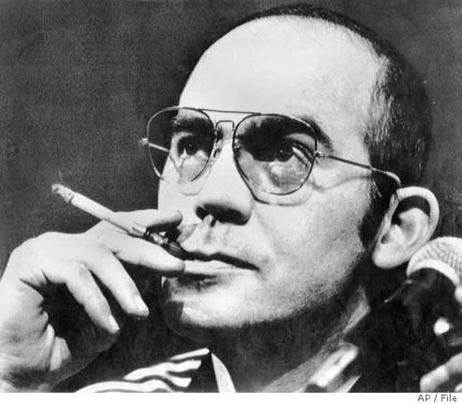 File photo of Hunter S. Thompson from 1977. Associated Press LaserPhoto Photo: Associated Press