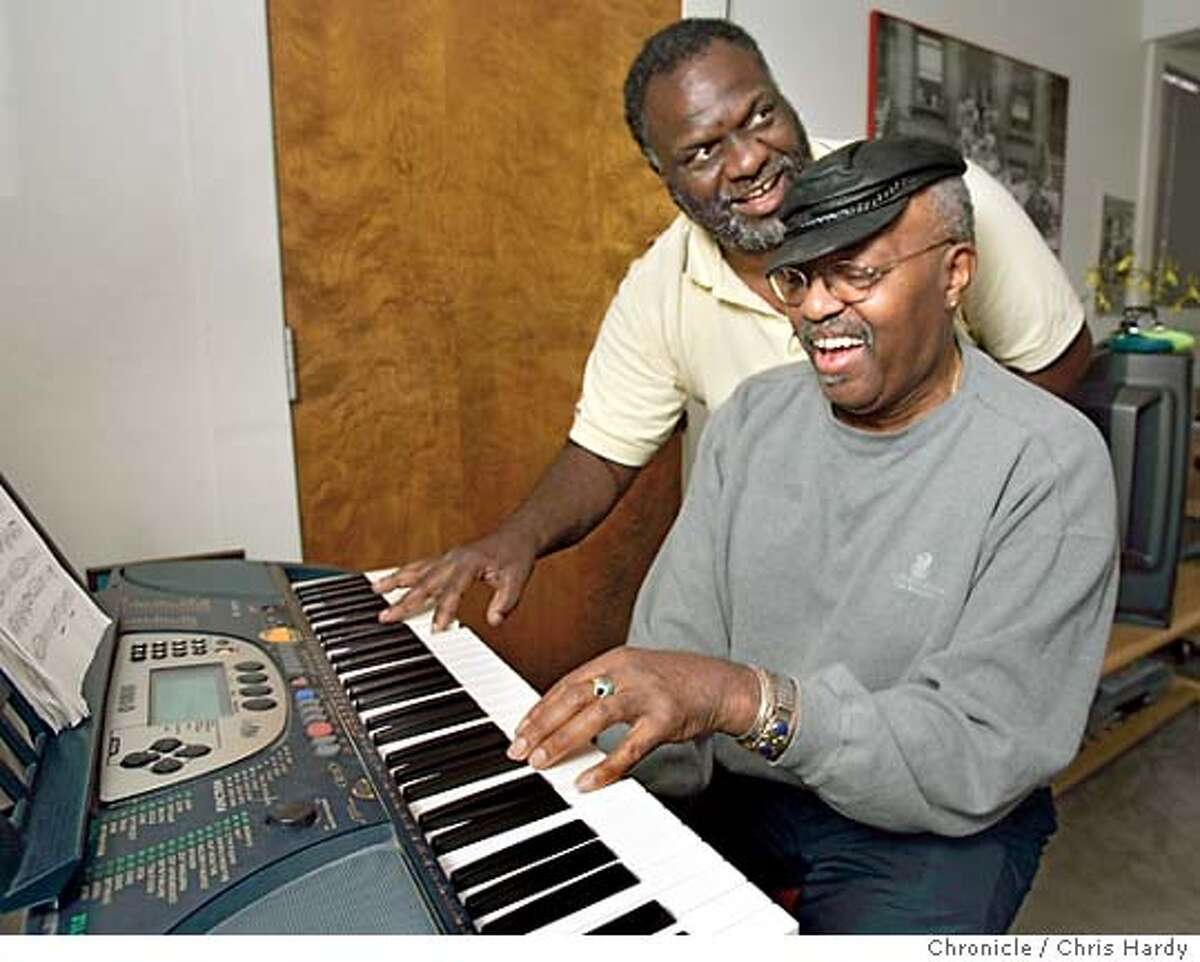 Merl Saunders, Jerry Garcia's favorite organ player, suffered a massive stroke almost two years ago. He is slowly recovering .His son Tony went ahead and finished the album his dad was working on. Event on 8/29/04 in Pacifica. Chris Hardy / San Francisco Chronicle