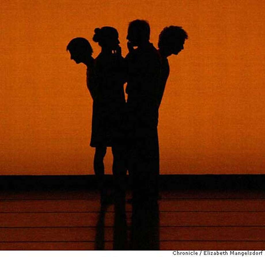 """D0AF2805.JPG  Mark Morris Dance Company premieres """"All Fours,"""" a new piece set to Bartok's String Quartet No. 4. Photos from the final dress rehearsal at Zellerbach hall at UC Berkeley. Event on 9/12/03 in Berkeley. LIZ MANGELSDORF / The Chronicle MANDATORY CREDIT FOR PHOTOG AND SF CHRONICLE/ -MAGS OUT Photo: LIZ MANGELSDORF"""