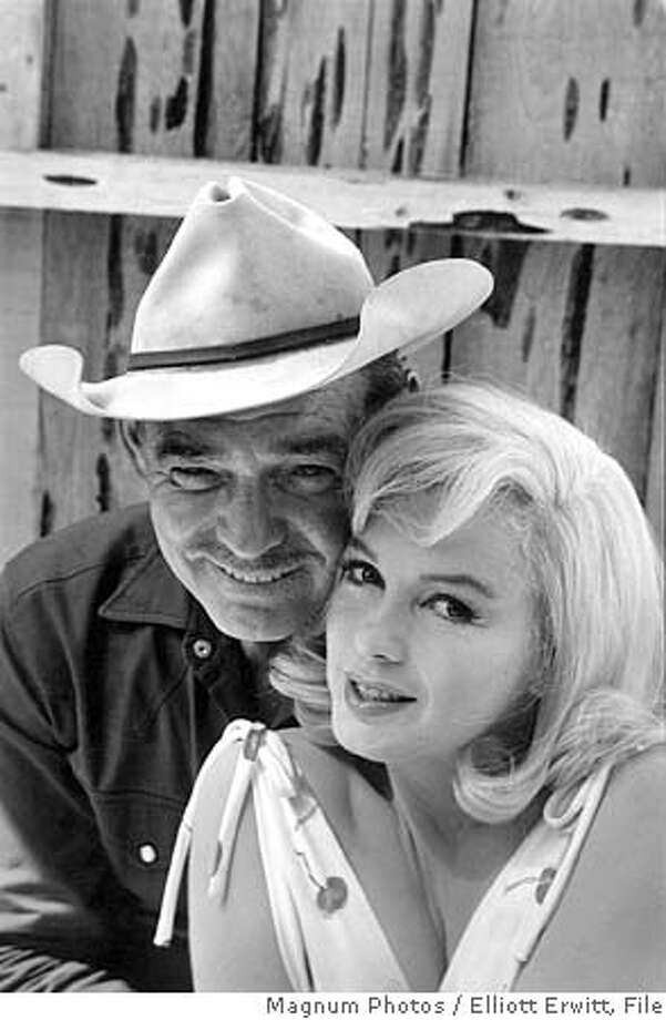 """THIS IS A HANDOUT IMAGE. PLEASE VERIFY RIGHTS. MISFITS30-B-27SEP02-DD-HO  The fabled film was the final work of two Hollywood icons, Clark Gable and Marilyn Monroe (pictured), directed by John Huston.  Making """"The Misfits""""  @ Photographer: Elliott Erwitt / Magnum Photos Photo: Handout"""