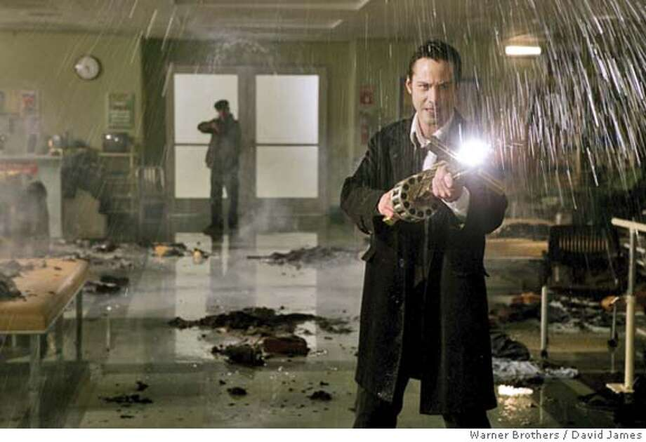 "CONSTANTINE18 KEANU REEVES in Warner Bros. Pictures' supernatural thriller ""Constantine,"" also starring Rachel Weisz. David James/Warner Brothers"