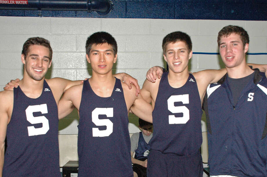 Staples senior captains, from left, Jon Heil, Zach Mitchell, Max Hoberman and Kyle Hoberman lead the Wreckers into the championship season, starting tomorrow with the FCIAC Western Division championships. Photo: Staplesrunning.com / Contributed