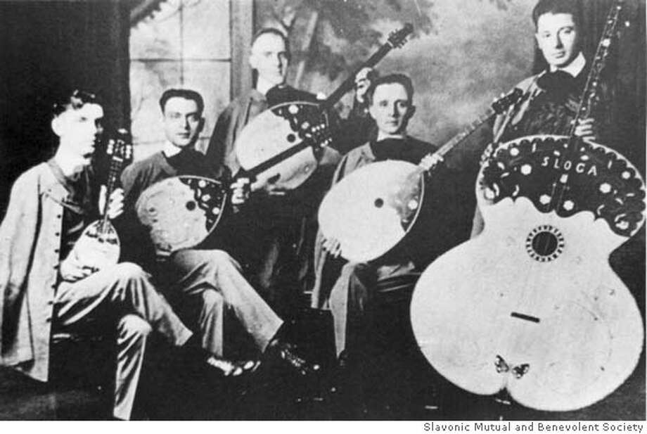 Photo of the Croatian Tamburitzans (Sloga) 1919. Performed Specially For General Pershing. Photo: Slavonic Mutual And Benevolent S
