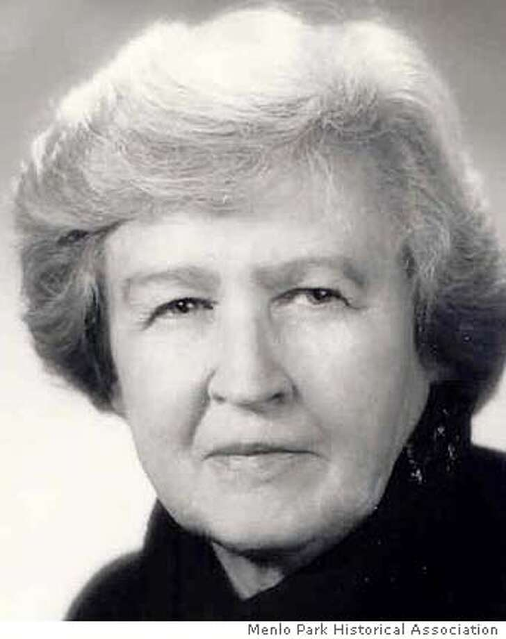 Photo of Former Menlo Park Mayor and Councilwoman Peg Lawrence Gunn, who died Sunday at age 87. Credit Menlo Park Historical Association Photo: Menlo Park Historical Associatio