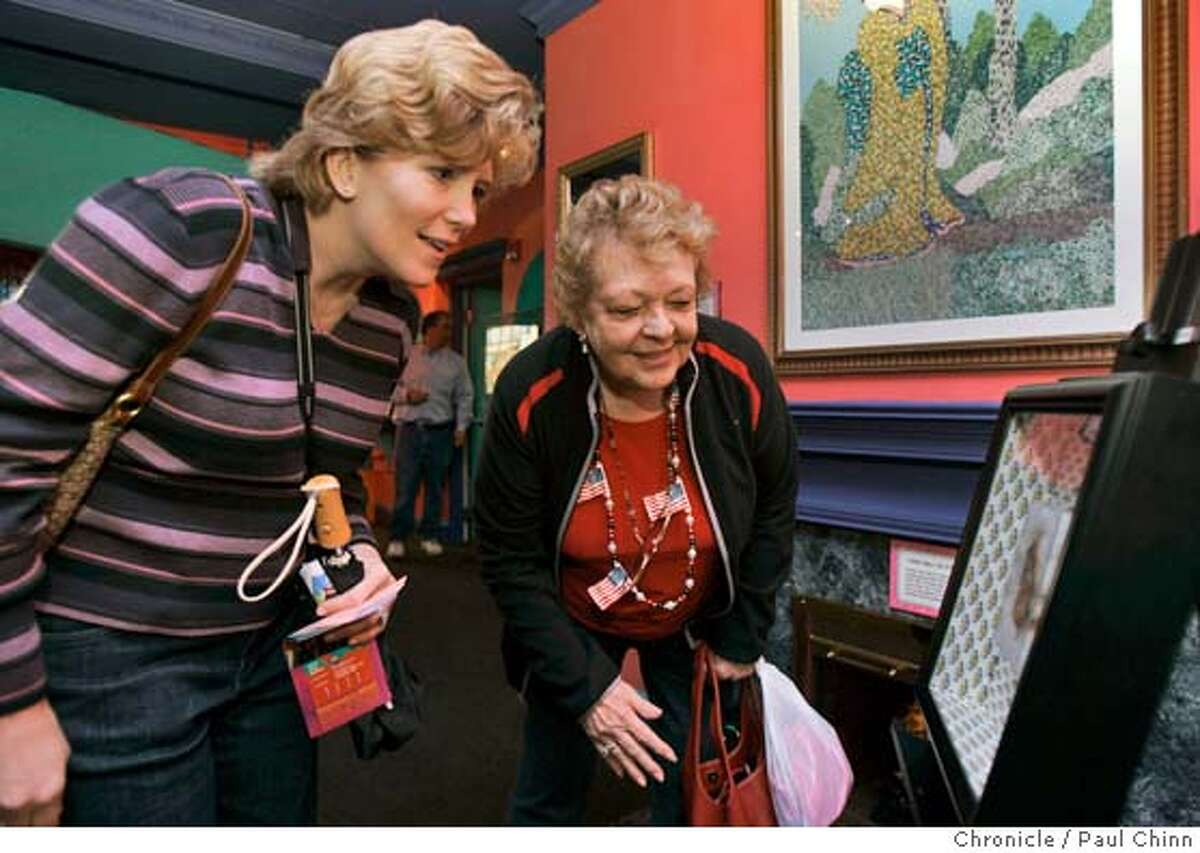 cheese_087_pc.jpg Susie Swentosky (left) and her mother Rosie Birgenheier, both from Billings, MT, move in for a closer inspection of the sandwich. The Virgin Mary grilled cheese sandwich was on display at Ripley's Believe It or Not attraction on 2/16/05 in San Francisco, CA. Online casino Golden Palace.com paid a Hollywood, Fla. woman $28,000 for the 10-year-old sandwich. PAUL CHINN/The Chronicle MANDATORY CREDIT FOR PHOTOG AND S.F. CHRONICLE/ - MAGS OUT