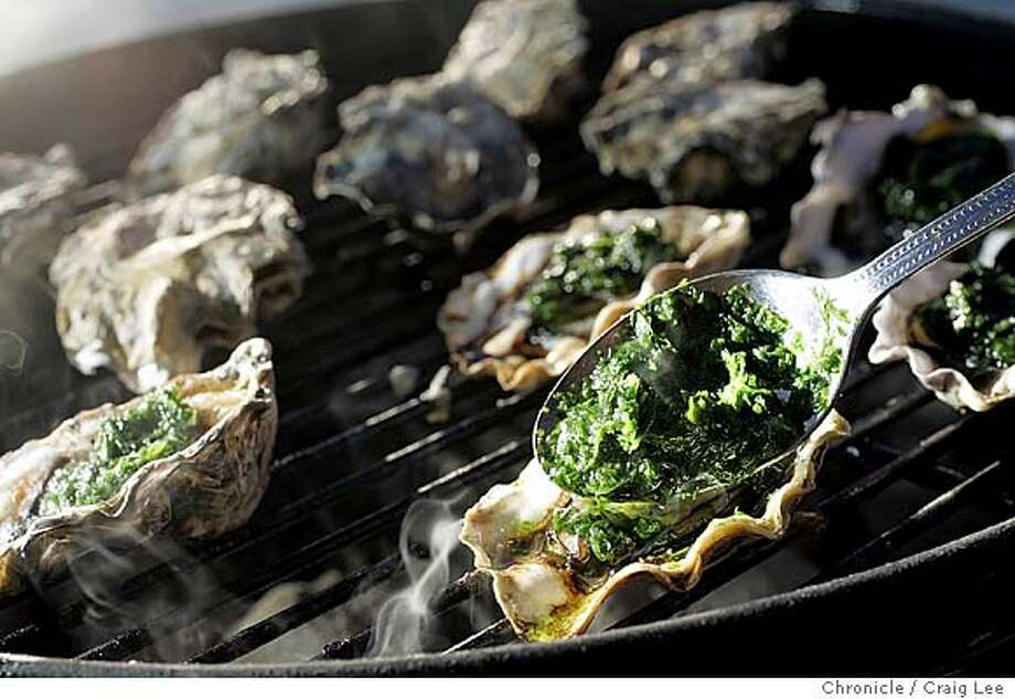 Photo to illustrate a Mediterranean style barbeque. Photo taken in the boat docks of Sausalito. Food photo styled by Amanda Berne. Photo taken on 08/17/04, in Sausalito, CA.  Photo By CRAIG LEE / The San Francisco Chronicle Photo: CRAIG LEE