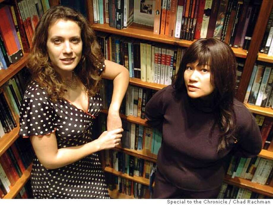 Authors Amy Sohn, left and Tracy Quan pose at the St. Marks Bookstore Friday, Dec. 3, 2004.  (Photo/Chad Rachman) Photo: CHAD RACHMAN / FREELANCE