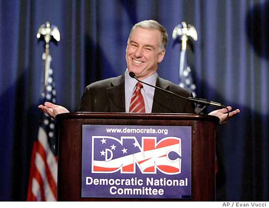 Newly Elected chairman Howard Dean gives a wide smile during his address to the general session of the winter meetings on Saturday, Feb. 12, 2005, in Washington. Dean is taking over for outgoing chairman Terry McAuliffe. (AP Photo/Evan Vucci) Photo: EVAN VUCCI