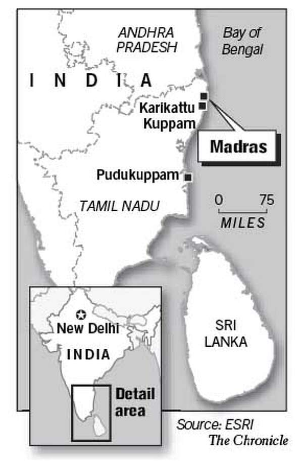 Madras, India. Chronicle Graphic