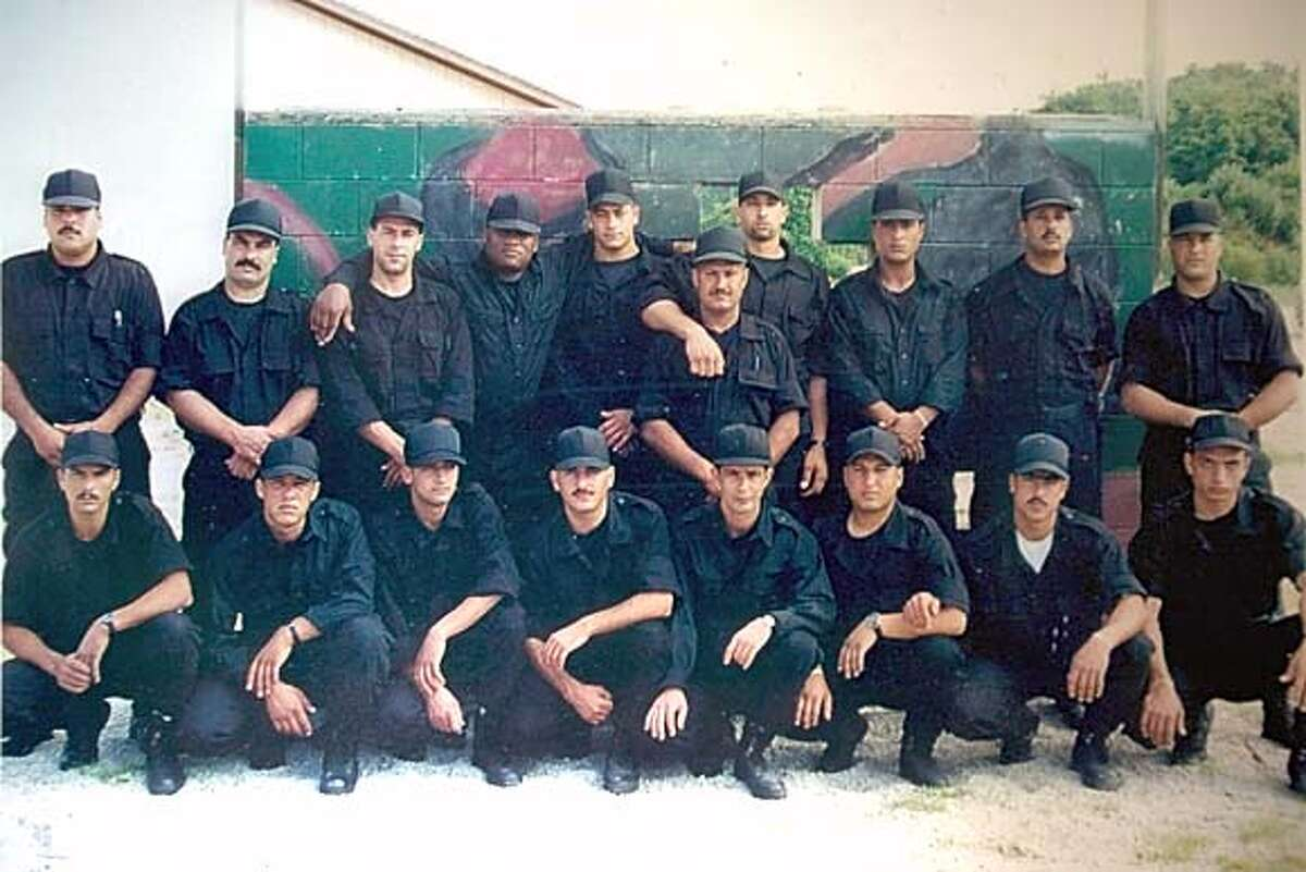 Photo of CIA-trained Palestinians, for Matthew Kalman's Story.