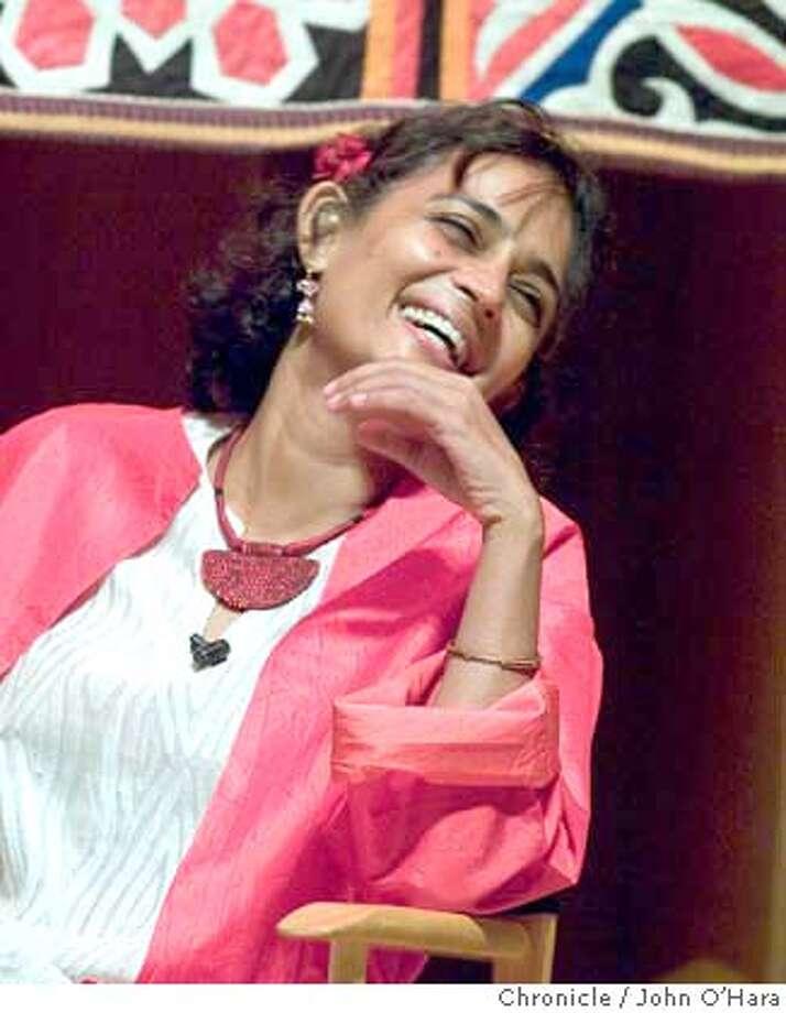 BERKELEY COMMUNITY THEATER, 1930 Allston Way, Berkeley,CA  Arundhati Roy, a novelist and outspoken activist.  Photo/John O'hara Photo: John O'Hara