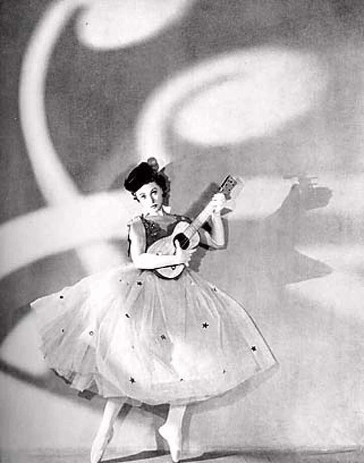 Irina Baronova in George Balanchine's Cotillon. Circa 1935.