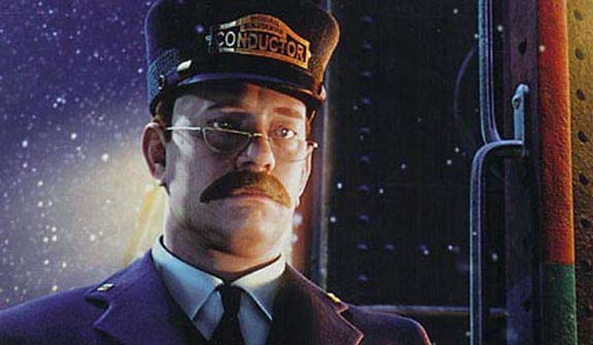 """Tom Hanks is the voice of the conductor in the animated film """"The Polar Express"""""""
