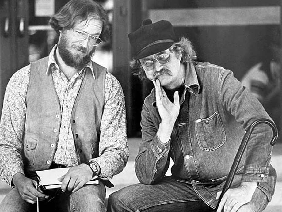 WALTZING22.JPG Richard Brautigan and Greg Keeler, circa 1982  by Linda Best. HANDOUT BookReview#BookReview#Chronicle#08-22-2004#ALL#Advance#M3#0422254019