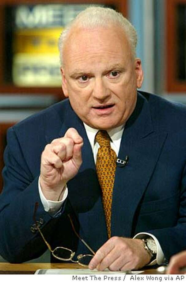 "Former White House counterterrorism advisor Richard Clarke talks with reporters during an interview on ""Meet the Press"" Sunday, March 28, 2004 at the NBC studios in Washington. (AP Photo/Meet The Press, Alex Wong) NO ARCHIVE, MUST USE BEFORE (APRIL 4, 2004) MUST CREDIT ALEX WONG, ""MEET THE PRESS"" Richard Clarke Richard Clarke #######0421696848 Ran on: 09-08-2004  Richard Clarke served as counter- terrorism czar under two presidents. #######0421696848 Photo: ALEX WONG"