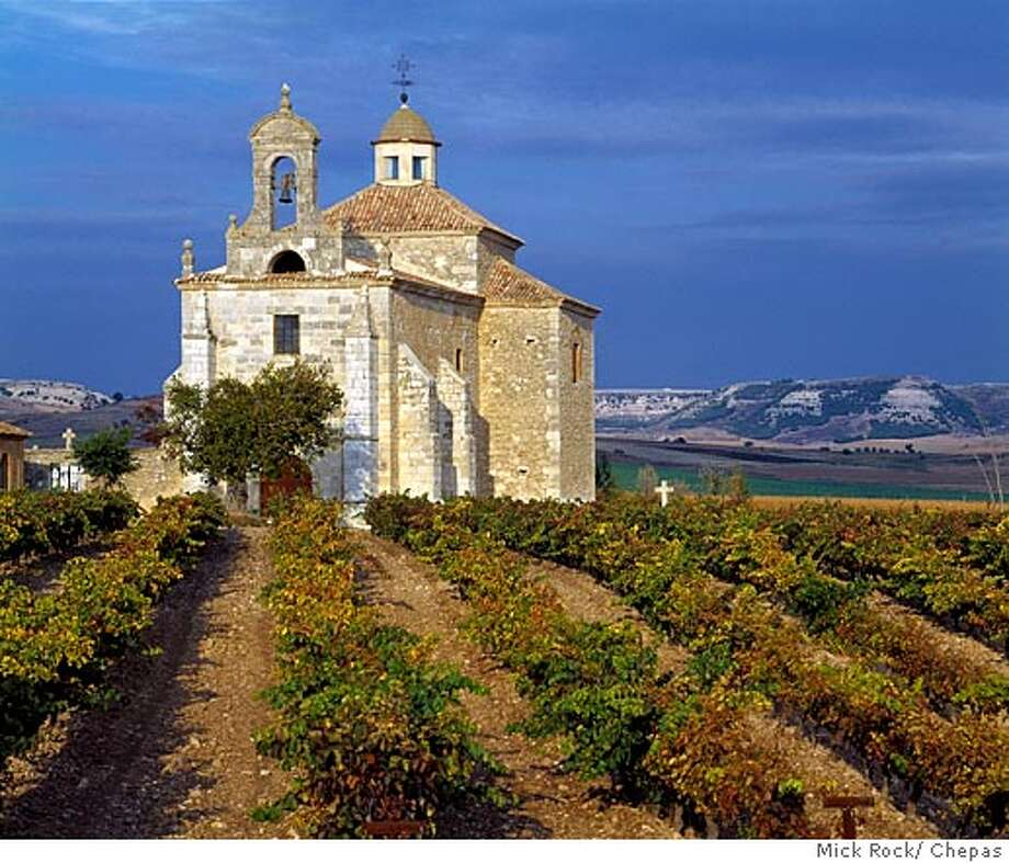 L'Ermita in vineyard above Pesquera de Duero, Castilla y Le�n, Spain. [Ribera del Duero]  photo by Mick Rock/ Chepas  ONE TIME USE ONLY