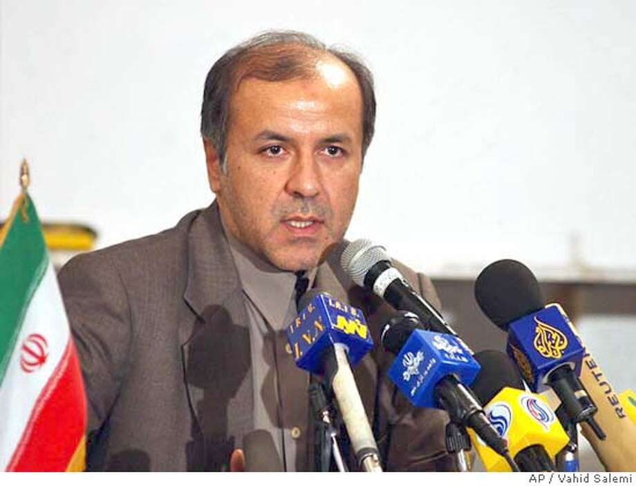 Deputy chief of the Iran's Atomic Energy Organization, Asadollah Sabouri, speaks to the media during his news conference in Tehran, Iran, Sunday, Aug. 22, 2004. Iran said Sunday it was planning to build more nuclear power plants with Russian help, ignoring U.S. concerns that byproducts from the plants could be used to manufacture atomic bombs. (AP Photo/Vahid Salemi) Photo: VAHID SALEMI