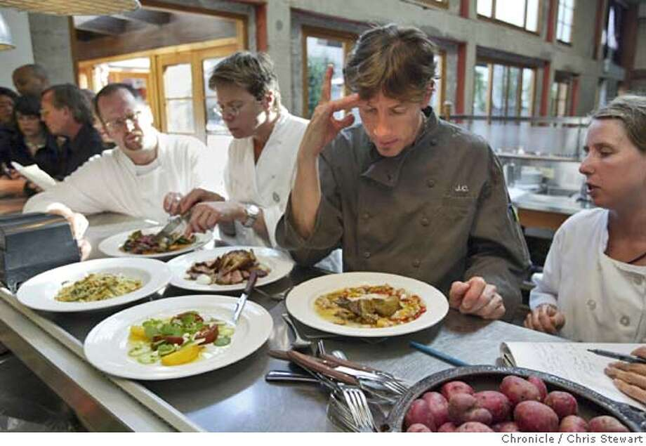Event on 8/7/04 in San Francisco  Foreign Cinema Restaurant owners, John Clark, 44, and Gayle Pirie, 40, prepare for dinner in their restaurant at 2534 Mission St., San Francisco. Chris Stewart / The Chronicle Photo: Chris Stewart