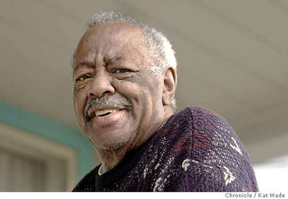 """On 2/7/05 in Berkeley Morrie Turner, 81, who was the first black syndicated cartoonist works at home in the house his parents bought in 1942. His cartoon """"Wee Pals,"""" was first syndicated 40 years ago on February 12, 1965. Turner still maintains regular studio hours and has recently created the book """"Super Sistahs,"""" Kat Wade / The Chronicle Photo: Kat Wade"""