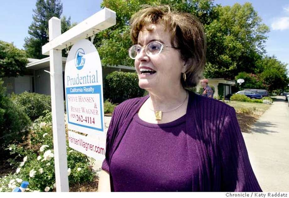 HOMESXX049_rad.jpg SHOWN: Bette (cq) Noll just looked at this Eichler house in Walnut Creek. Story about home sales based on DataQuick's monthly report. Katy Raddatz / The Chronicle MANDATORY CREDIT FOR PHOTOG AND SF CHRONICLE/ -MAGS OUT Photo: Katy Raddatz