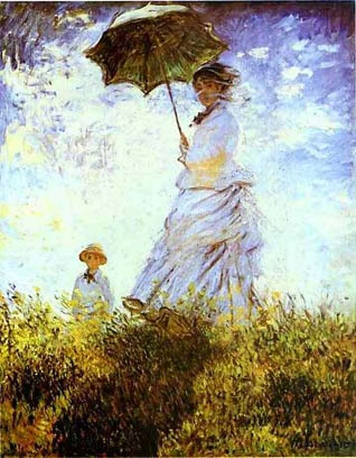 "Monet's ""lady with a Parasol"""