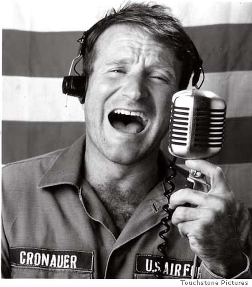 Robin Williams starred as Adrian Cronauer in 1987's Good Morning, Vietnam, the story of a DJ assigned to an armed services radio station in Vietnam.