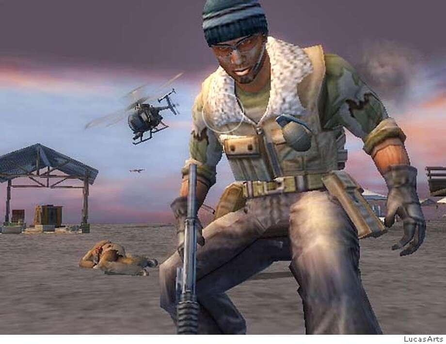 "Still from the game, ""Mercenaries."""