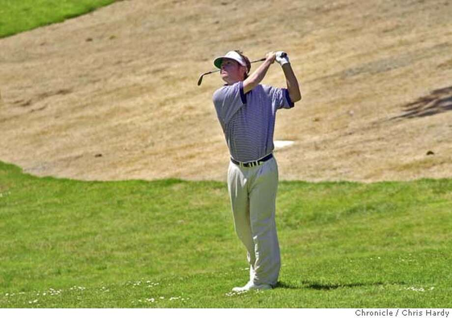 Spencer Levin hits on the 17 fairway at the US Open Sectional Qualifying tournament at the Lake Merced Country Club  at Daly City,CA on 6/7/04  San Francisco Chronicle/Chris Hardy Photo: Chris Hardy