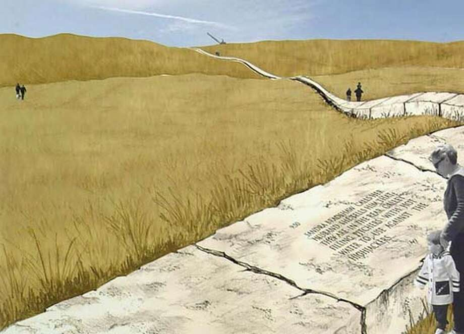 Bravery Wall and Memorial Walk. Proposed design for the Flight 93 Memorial. Designed by Leor Lovinger, Gilat Lovinger