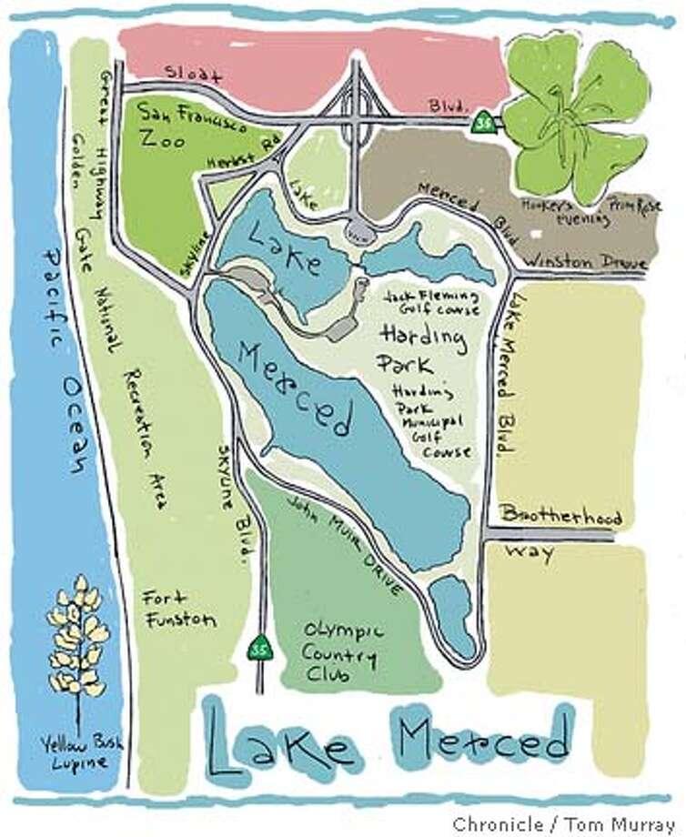map of lake merced Photo: Tom Murray