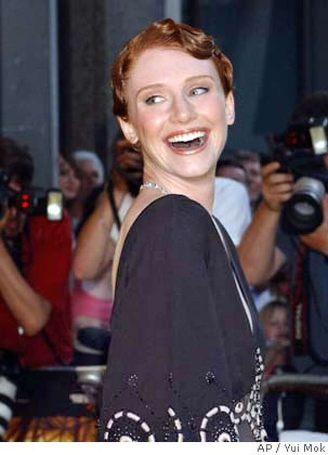 Bryce Dallas Howard, daughter of director Ron Howard and star of the new film The , arrives for the UK premiere of the film in London Tuesday, Aug. 10, 2004. (AP Photo/PA, Yui Mok) ** UNITED KINGDOM OUT MAGS OUT ** UNITED KINGDOM OUT MAGS OUT Photo: YUI MOK