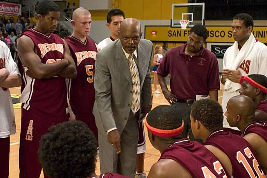 "Samuel L. Jackson scored his first No. 1 name-above-the-title hit as the heroic ""Coach Carter,"" which opened with $24 million. Photo courtesy of Paramount Pictures"