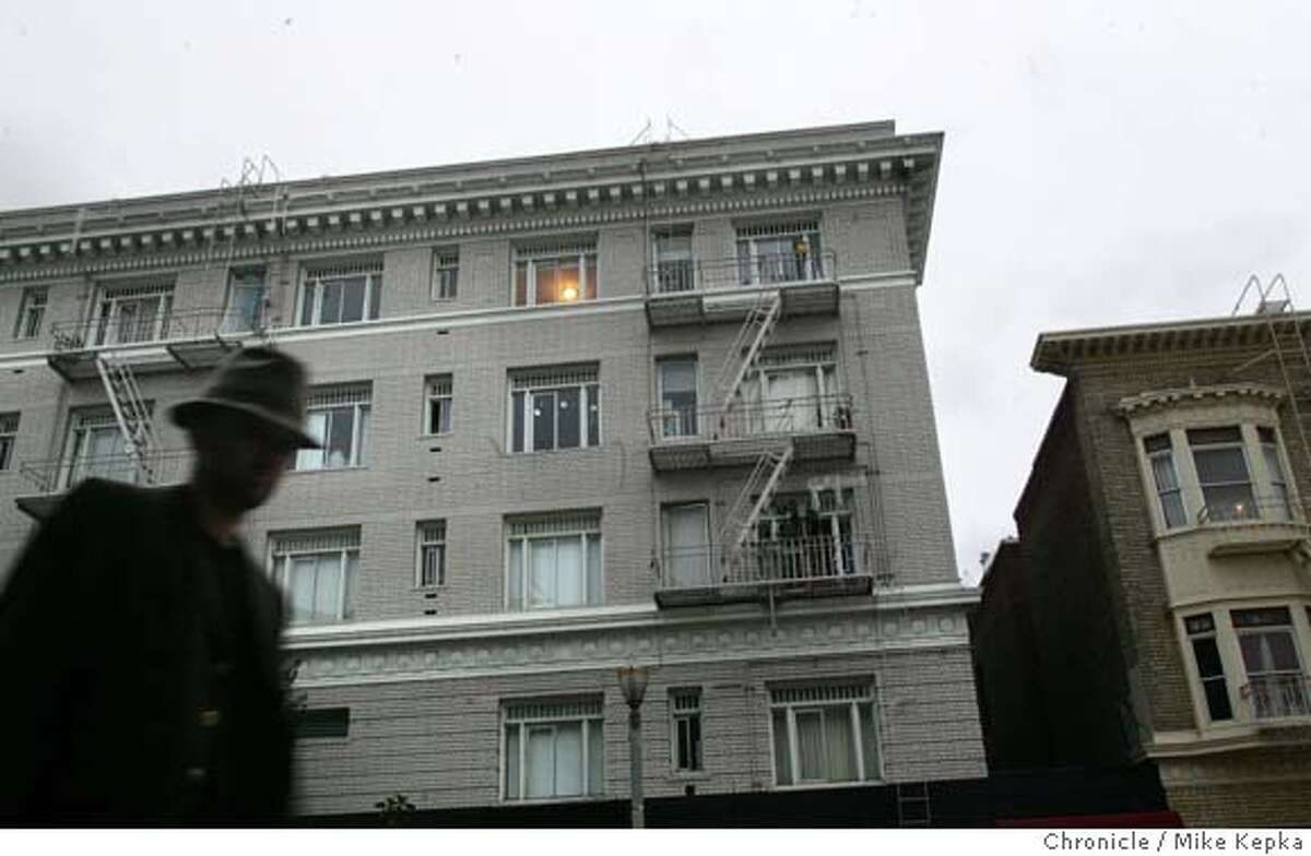 A file photo of the corner of Post and Hyde in San Francisco.