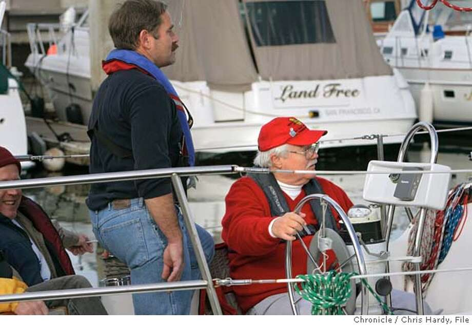 Herb Meyer, commodore of BAADS, the Bay Area Association of Disabled Sailors. They teach people with Down Syndrome, cerebral palsy and other disabilities get out on the water and learn to sail. . in San Francisco,CA on1/9/05  San Francisco Chronicle/Chris Hardy Photo: Chris Hardy