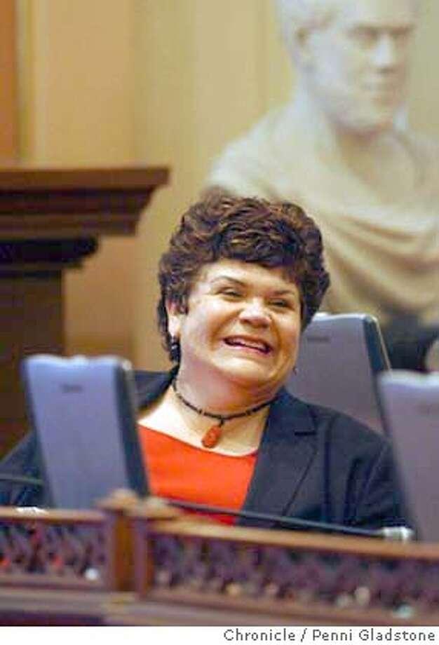 LA Senator Marta Escutia  WHO WIL SUCCEED JOHN BURTON as senate pres. pro tem. 8/10/04 in Sacramento.  Penni Gladstone / The Chronicle Photo: Penni Gladstone