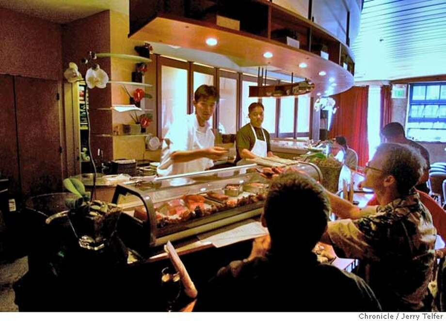 Sushi Groove South is a SOMA sushi bar with techno-mod decor.  1516 Folsom Street  CHRONICLE STAFF PHOTO BY JERRY TELFER Photo: JERRY TELFER