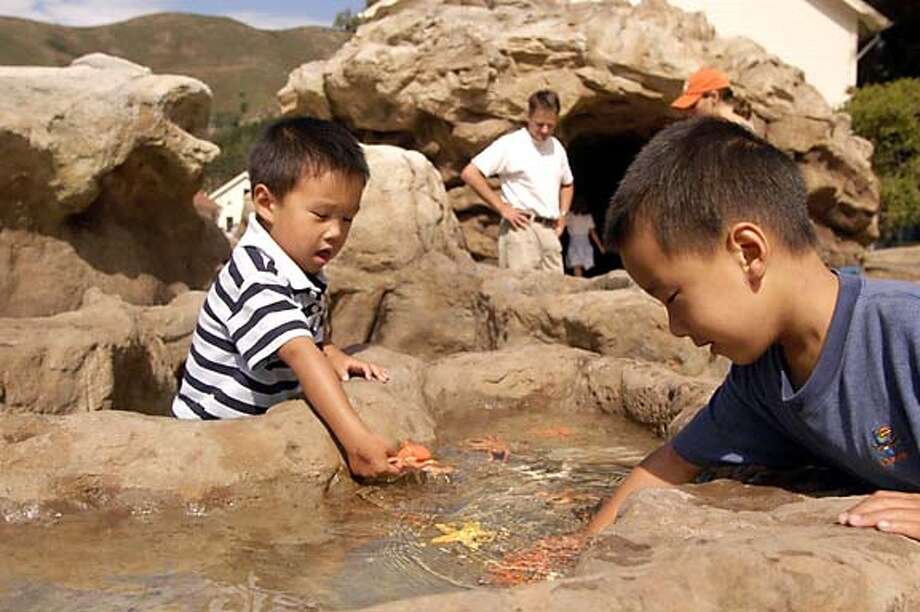 Kids play at Lookout Cove, new attraction at the Bay Area Discovery Museum Photo: Handout