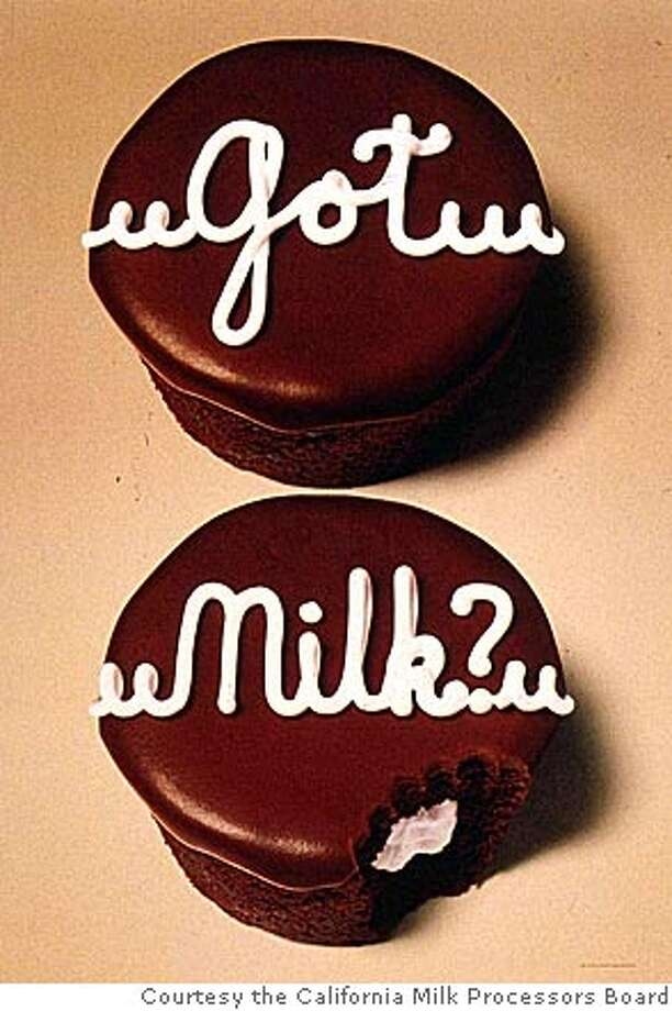 """,The American Center for Wine, Food & the Arts  Presents its """"Got Milk?"""" exhibition from Jan. 21 - May 30, 2005. Courtesy the California Milk Processors Board Photo: Courtesy The California Milk Pro"""