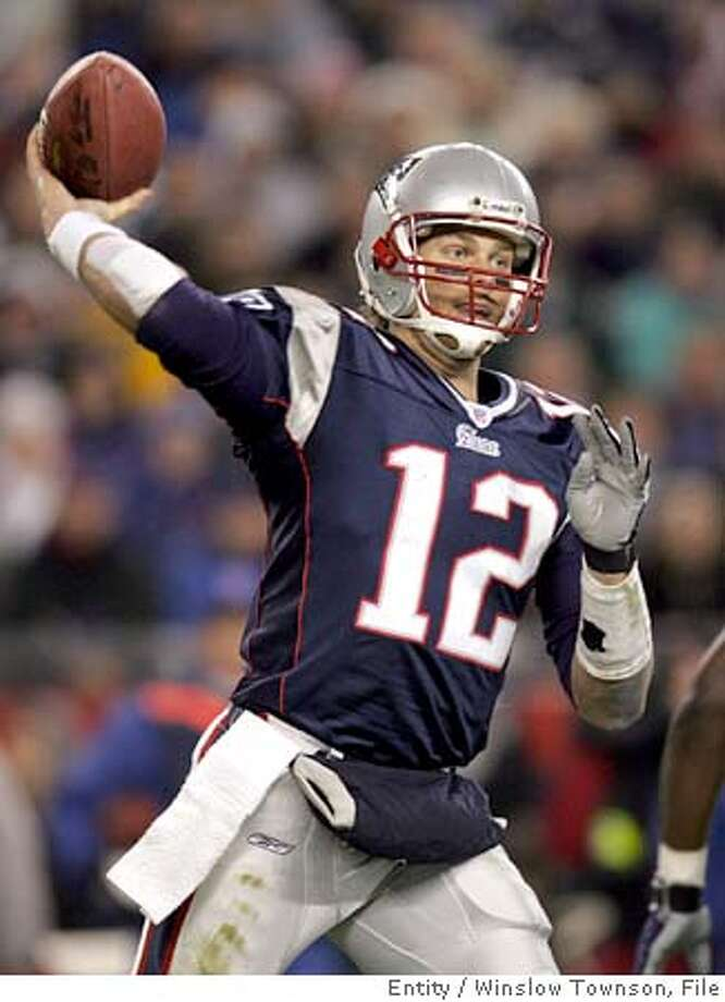 New England Patriots quarterback Tom Brady throws a pass in this Nov. 15, 2004 photo in Foxboro, Mass. The Pittsbugh Steelers take on the defending Super Bowl champions New England Patriots in the AFC championship game on Sunday, Jan. 23, 2005, in Pittsburgh. (AP Photo/Winslow Townson) Photo: WINSLOW TOWNSON