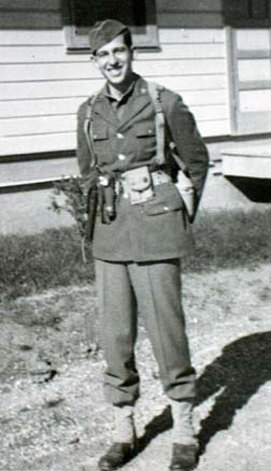 RITCHIE_030_MJM.jpg  Rudy Michaels in uniform after basic training.  Rudy Michaels, of Sacramento, is one of the surviving members of the little known Ritchie Boys, young Jewish emigres to the U.S. who joined up after WWII broke out and went back to Germany with American intelligence forces, to help interrogate German POWs to obtain valuable information to help shorten the war. A new German made film is on the short list for an Oscar nomination. MANDATORY CREDIT FOR PHOTOG AND SF CHRONICLE/ -MAGS OUT Photo: Michael Maloney