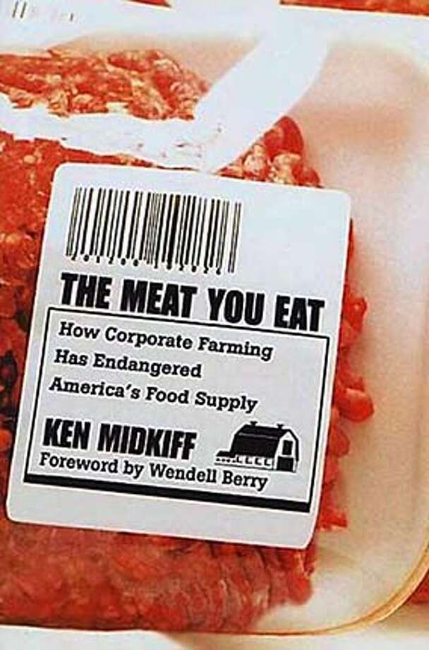 edrec15a.JPG Book cover for THE MEAT YOU EAT by Ken Midkiff HANDOUT